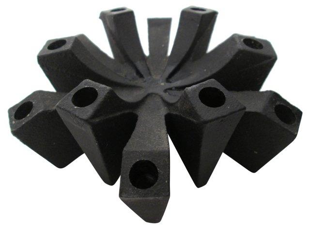 Danish  Iron Candleholder