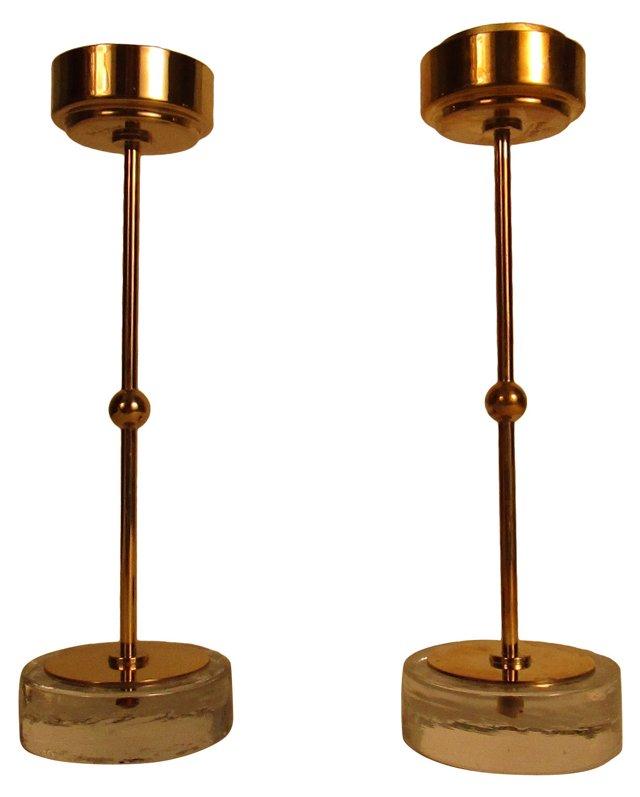 Ystad Metall   Candleholders, Pair