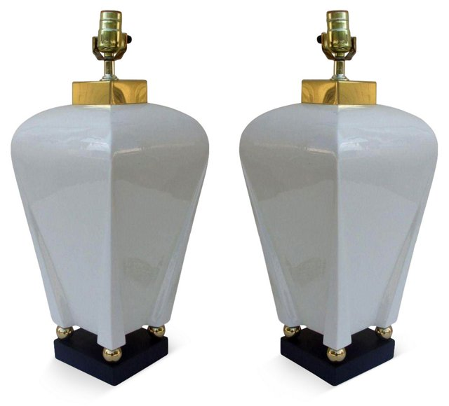 Midcentury    Lamps, Pair