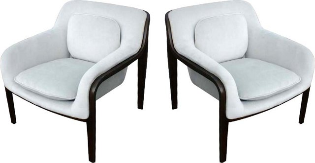 Knoll Stephens Lounge Chairs, Pair
