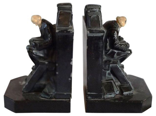19th-C. Jennings Bros.    Bookends