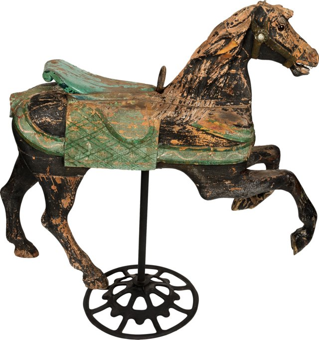 Hand-Carved Carousel Horse