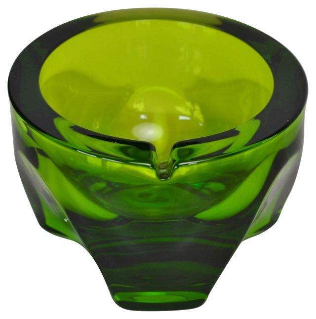 Emerald-Green Glass Ashtray
