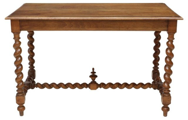 19th-C.  French Carved Walnut Table