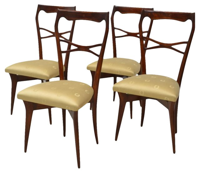 Italian Dining Chairs, S/4