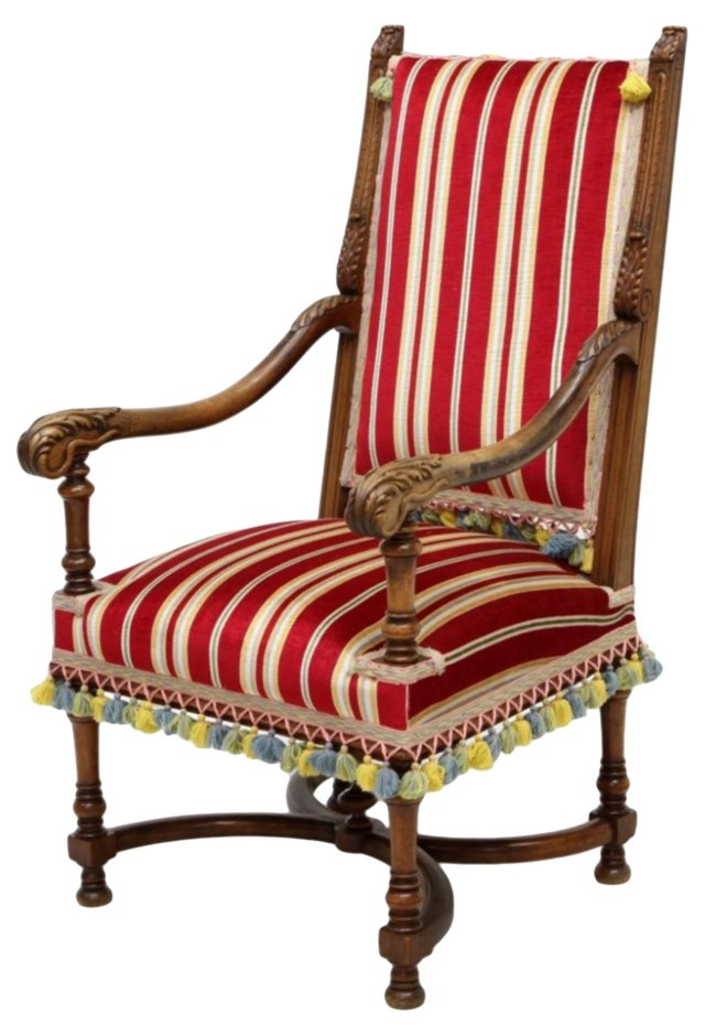 French Louis XIII-Style Armchair