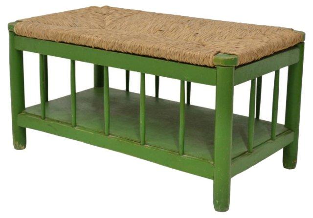Green Bench w/ Rush Top