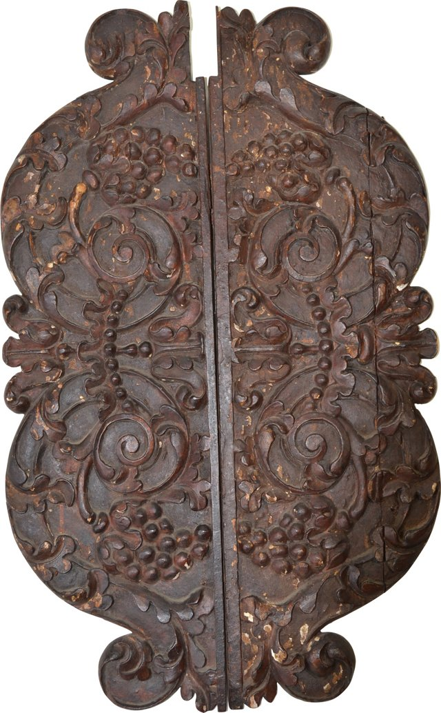 Antique Carved Architectural Element