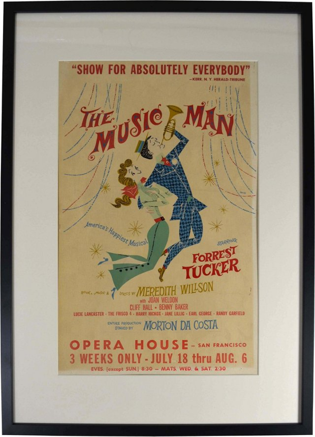 Framed Music Man Poster
