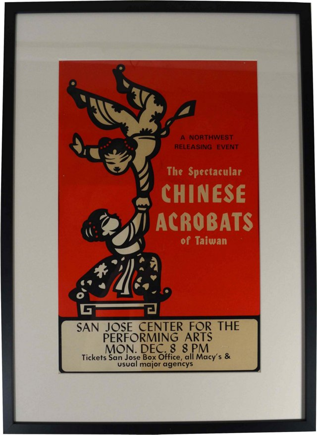 Chinese Acrobats Theater Poster