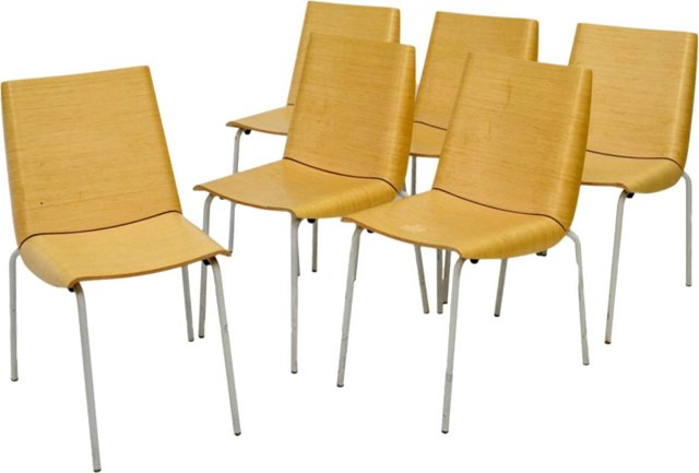 Mid-Century Modern Chairs, Set of 6