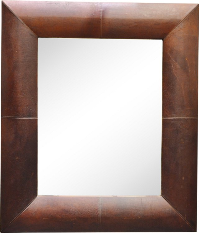 French  Leather Mirror
