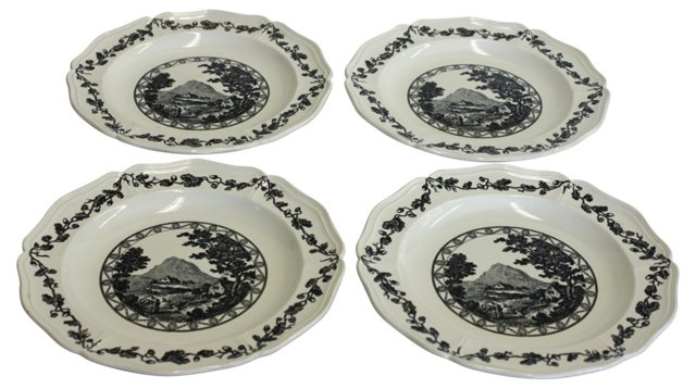 Wedgwood  Bewick Plates, S/4