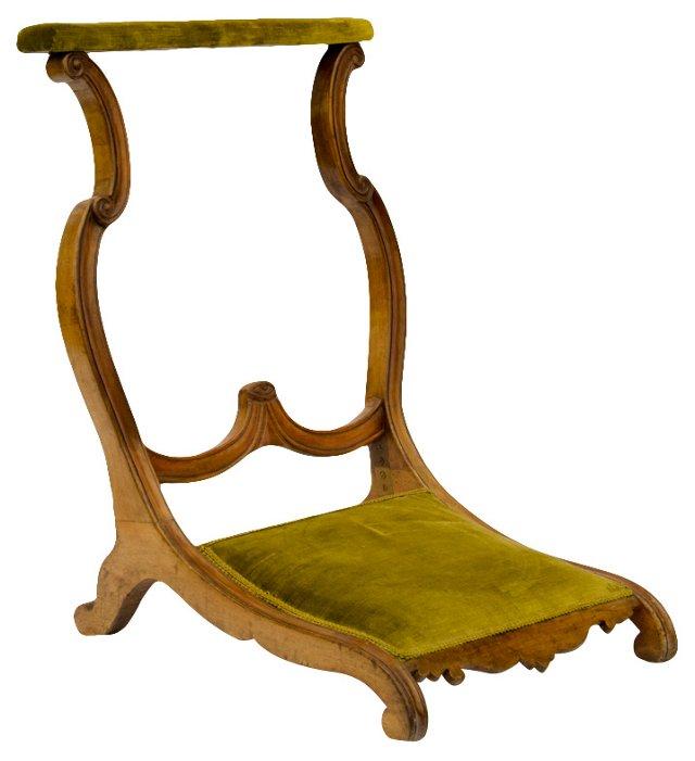 19th-C.  French Prayer Chair
