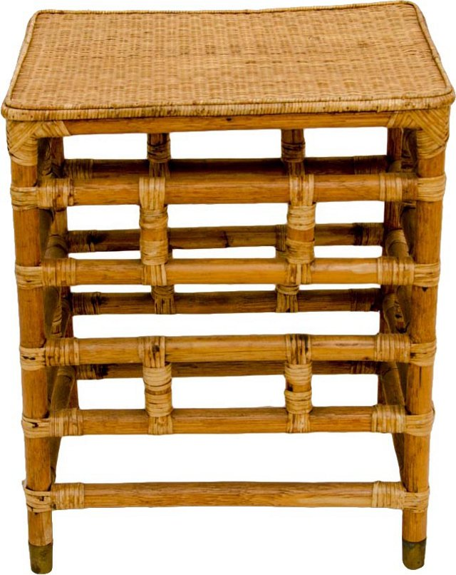 Chinese Bamboo Side Table