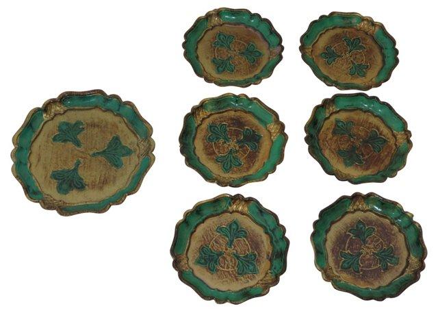 Florentine Coasters, Set of 7