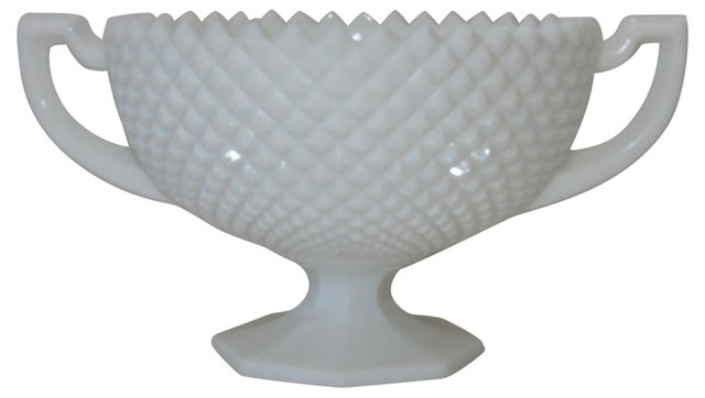 Milk Glass Trophy Cup Compote