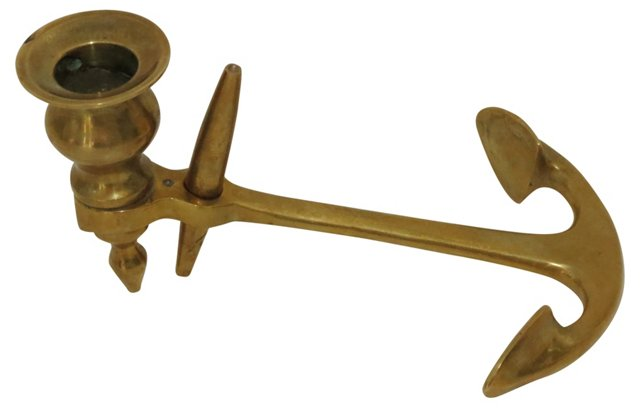Brass Anchor Candlestick