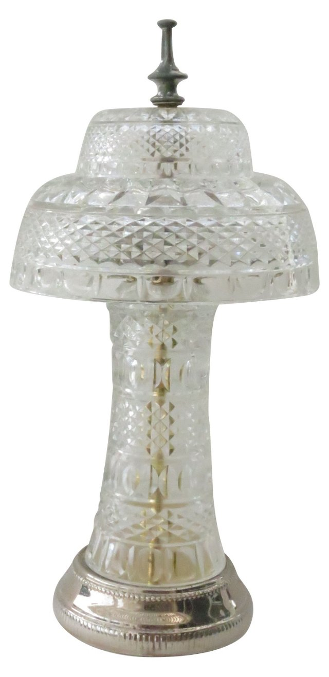 Hollywood Regency Glass Lamp