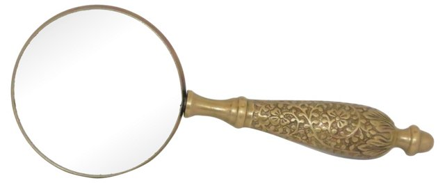 Magnifying Glass w/ Brass Handle