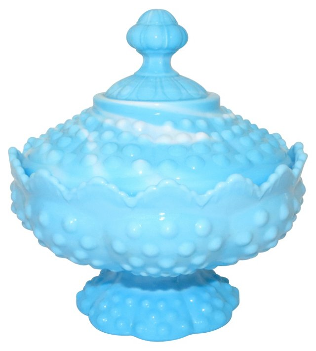 Hobnail Covered Candy Dish
