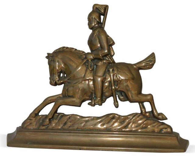 Brass English Knight Doorstop