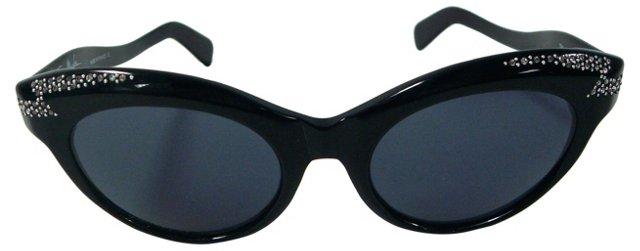 Thierry Mugler Rhinestone Sunglasses