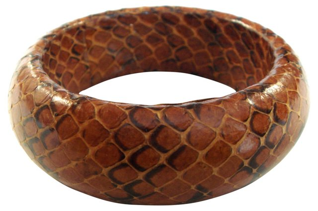 Brown Snakeskin Bangle