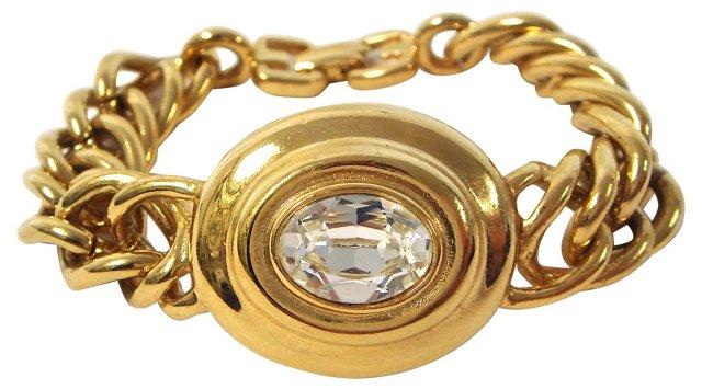 Givenchy Crystal Chain-Link Bracelet