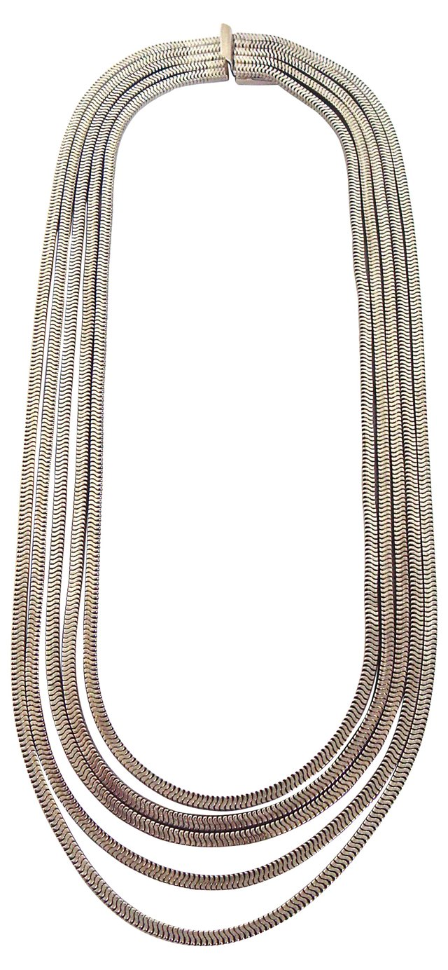 YSL 5-Strand Snake Chain Necklace