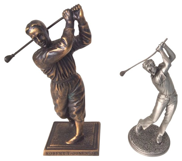 Golf Legends in Bronze and Pewter