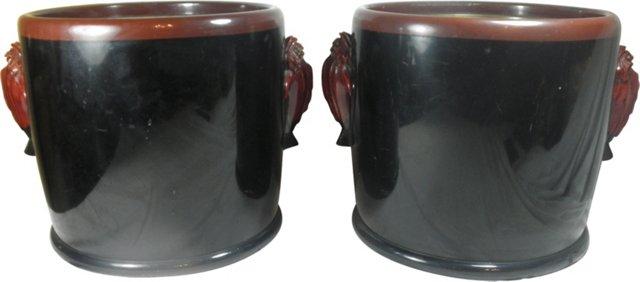 Antique Japanese Hibachis, Pair