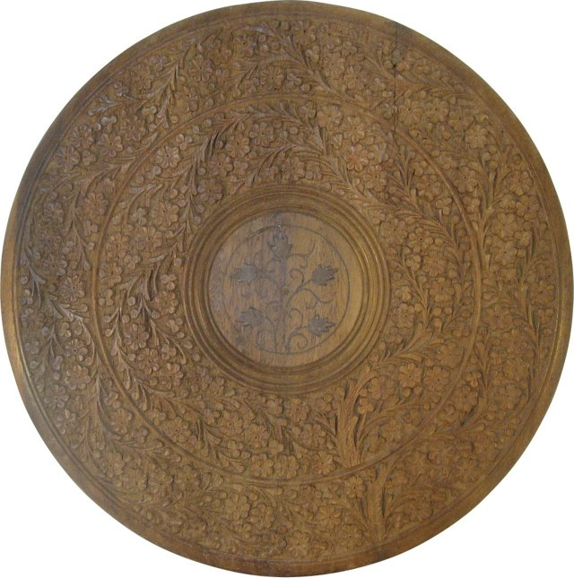 Hand-Carved Sheesham Plaque