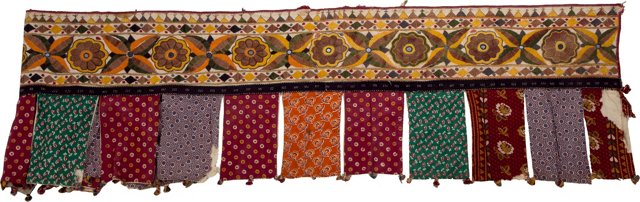 "Embroidered Indian Toran 207 "" long"