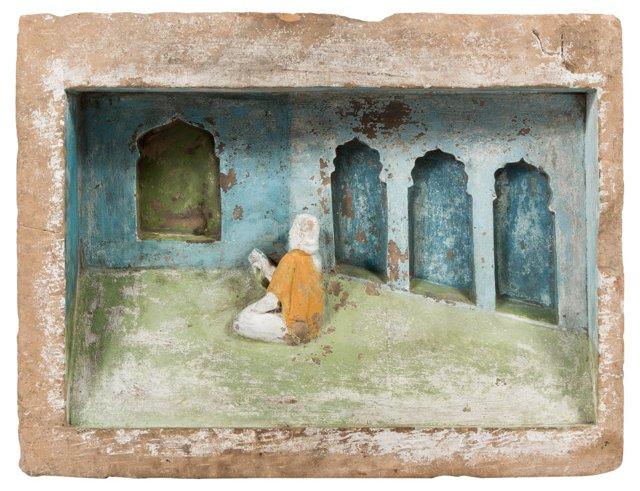 Antique Jain Sandstone Panel