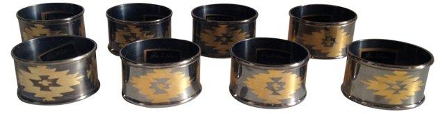 Park B. Smith Napkin Rings, S/8