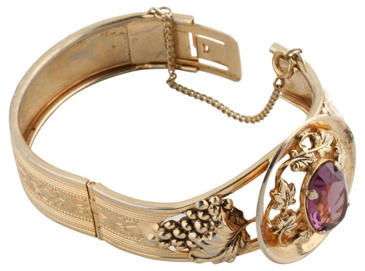 1960s Goldtone Grape-Motif Bracelet