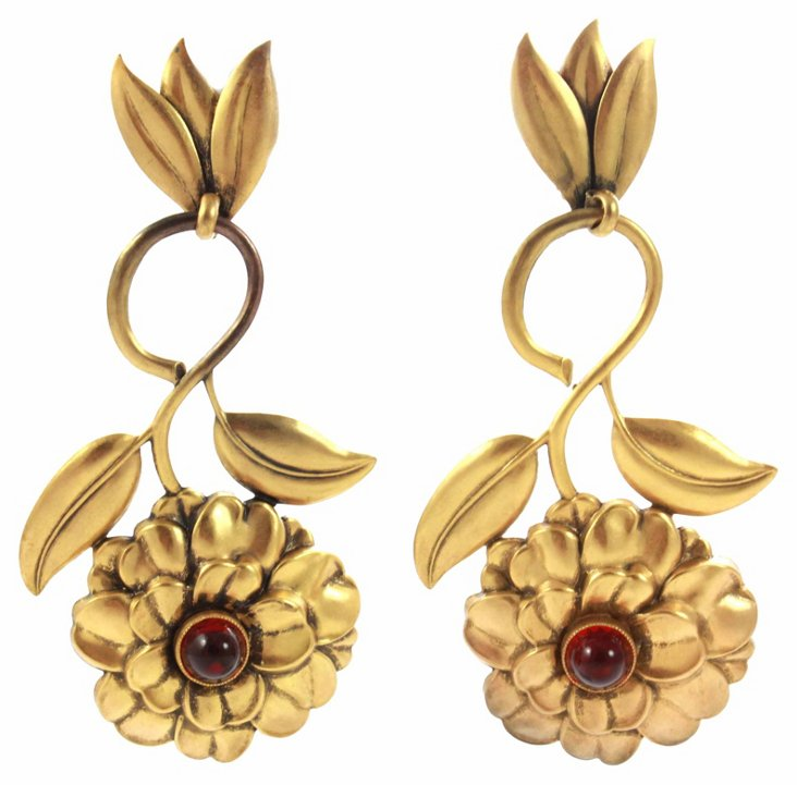 Joseff of Hollywood Floral Earrings