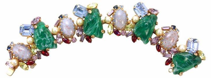 1950s Alice Caviness Cabochon Bracelet