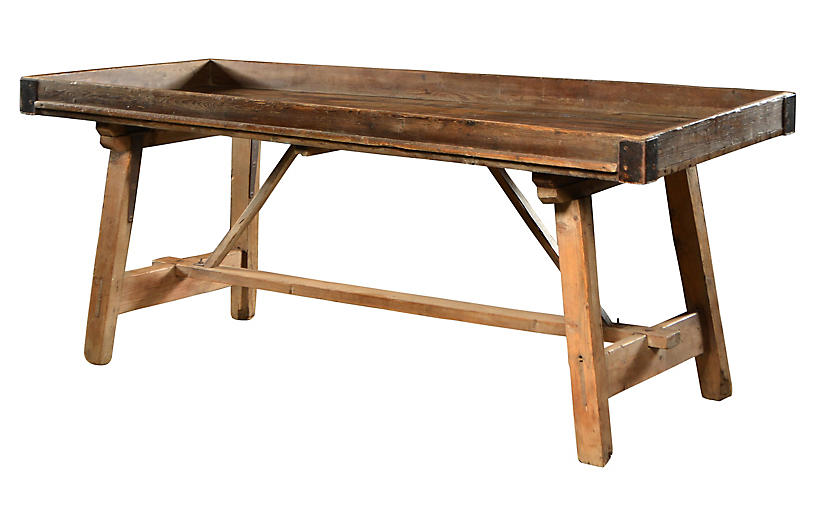Belgian Potting Table W Stretcher Outdoor Furniture