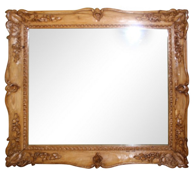 Carved Pine Mirror