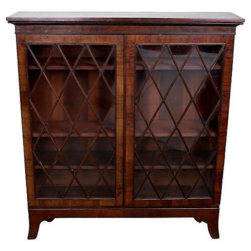 Antique Glass-Door Bookcase