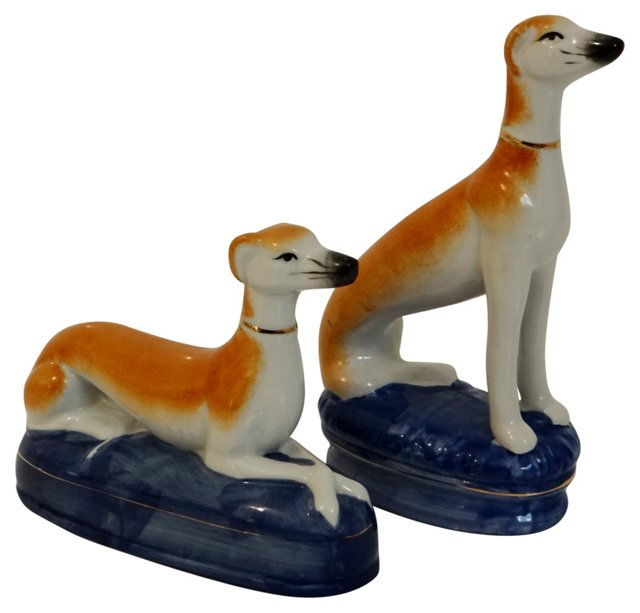Staffordshire Whippets, Pair