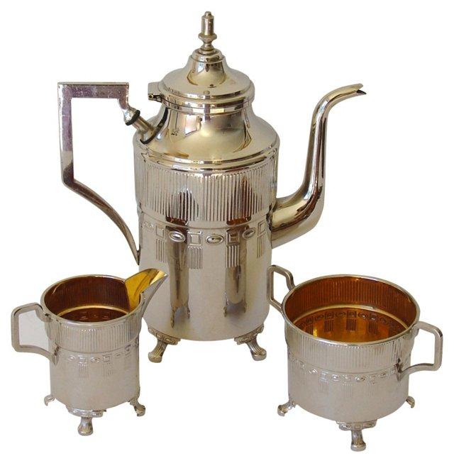 Art Deco Tea Set, 3 Pcs