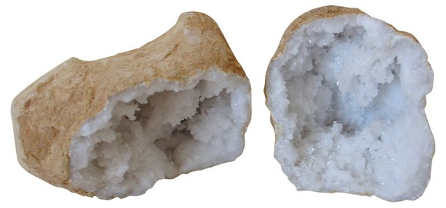 Crystal     Geode, 2 Pcs