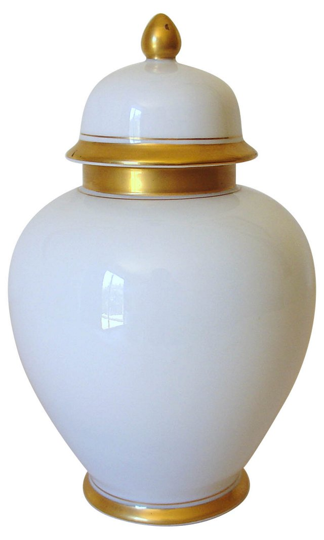 White & Gold Ginger Jar