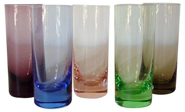 Multicolor Midcentury Cordials, S/5