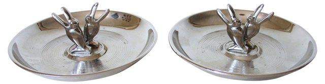 Art Deco Toucan Pincherettes, Pair