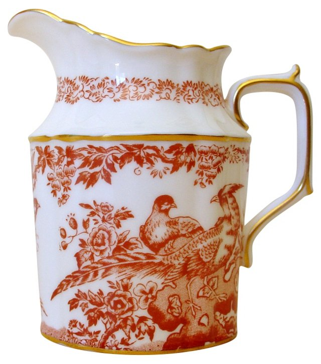 Royal Crown Derby Red Aves Creamer