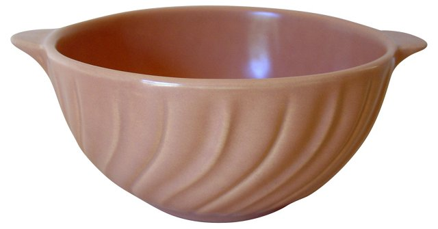 Franciscan Coral Swirl 2-Handled Bowl